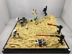Rebel Scum 1 (legonachos) Tags: lego star wars trooper rebel sand darth vader