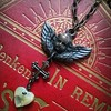 Dark cherub (lilruby) Tags: cherub vintageinspired darkmetal heart motherofpearl necklace lilrubyjewelry cross gothic