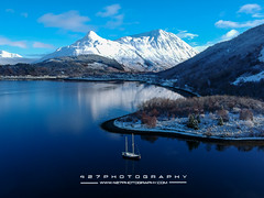 20180120-DJI_0007 (427photography.com) Tags: 427photographycom glencoe islands scotland water ice boat 427photography mountains pap trees