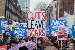 NHS - Fund It Now! 3 Feb 2018 (The Weekly Bull) Tags: conservative downingstreet gowerstreet london nhs nationalhealthservice peoplesassembly tory whitehall austerity cuts demo demonstration health healthcare politics privatisation protest