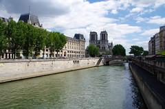 The Seine (sarowen) Tags: seine river notredame notredamecathedral notredamedeparis parisfrance paris france