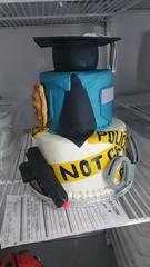 police (backhomebakerytx) Tags: birthday cake police man uniform caution gun handcuffs graduate