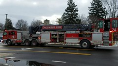 Ladder 24 (Central Ohio Emergency Response) Tags: columbus ohio fire division truck ladder tiller pierce