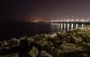 Civitanova Marche (Michele Belleggia) Tags: italy nikon d5500 night sea rock reef coast landscape long exposure scenery marche civitanova
