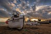 Three in a row (James Waghorn) Tags: sigma1020f456 hastings beach nikon d7100 topazclarity sunset pebbles boat thestade eastsussex winter clouds england