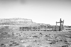 Coconino County, Arizona (paccode) Tags: solemn d850 landscape desert serious quiet abandoned monochrome scary mojave blackwhite forgotten hills creepy arizona mesa farm fence marblecanyon unitedstates us