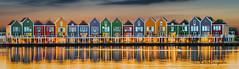 Colors (K&S-Fotografie) Tags: rainbow houses houten netherlands sea colors panorama reflection evening sky gebäude wasser himmel sonnenuntergang