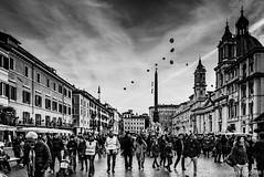 Piazza Navona (wketsch) Tags: rom italien architektur reise kultur sehenswürdigkeit rome italy landmark travel city tourism street bw monochrome cityscape urban exploration