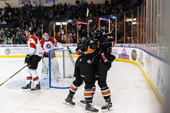 """Kansas City Mavericks vs. Cincinnati Cyclones, February 2, 2018, Silverstein Eye Centers Arena, Independence, Missouri.  Photo: © John Howe / Howe Creative Photography, all rights reserved 2018. • <a style=""""font-size:0.8em;"""" href=""""http://www.flickr.com/photos/134016632@N02/39407205644/"""" target=""""_blank"""">View on Flickr</a>"""