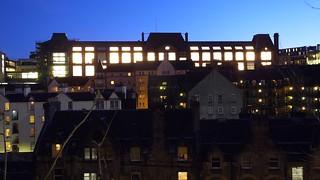 Edinburgh College of Art at night