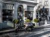 Vintage era (Lee-Anne Evans) Tags: bruge scooter canon 1300d hdr cobbles flanders cafe car mini oldbuildings vintage era retro outdoors outside town europe sunshine light colourful colorful colour color