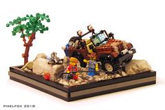 Jeep CJ-7 (Pixel Fox) Tags: jeep cj lego moc vignette diorama offroad 4x4