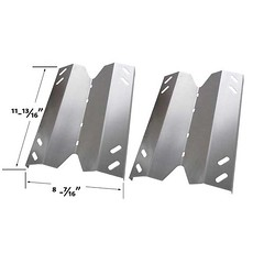 REPLACEMENT-2-PACK-STAINLESS-STEEL-HEAT-SHIELD-FOR-MEMBERS-MARK-B10PG20-2C-B10PG20-2R-GR3055-014571-GAS-MODELS (grillpartszone) Tags: stainless steel heat shield members mark