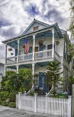 Patriotic Key West (sumnerbuck) Tags: keywest florida oldhomes flag flickrdiamond diamondclassphotographer