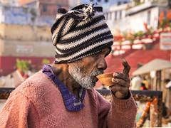 Drinking Chai (Dick Verton ( more than 12.000.000 visitors )) Tags: chai man streetphotostreetview streetlive varanasi india travel