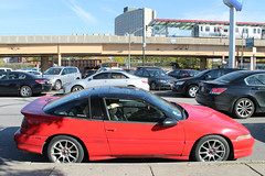 Red Rocket (Flint Foto Factory) Tags: chicago illinois urban city autumn fall october 2017 south chinatown richlandcenter foodcourt 1990 1991 mitsubishi eclipse gsx hot hatch red japanese japan import sporty sports coupe 2002 swentworthave wentworth archer intersection worldcars cta chicagotransitauthority redline cermak station