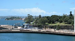 Australia. Sydney harbour bridge. Looking toward the botanical gardens. (Anne & David (Use Albums)) Tags: australia sydney sydneybotanicalgardens