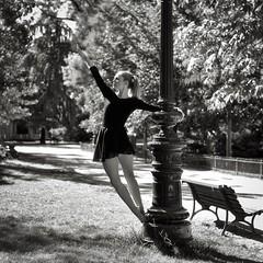 Urban Ballerina. (Agathe). (@phr_photo) Tags: jardin square femme woman danseuse ballerine ballerina dancing dance