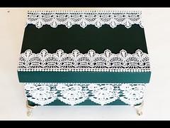 Artesanato Caixa Decorada com Rendas e Pérolas Como Fazer (portalminas) Tags: artesanato caixa decorada com rendas e pérolas como fazer