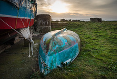 In For Repairs (daedmike) Tags: scotland johnshaven grampian coast harbour sea fishing boat ship repair sunrise morning sailing rope