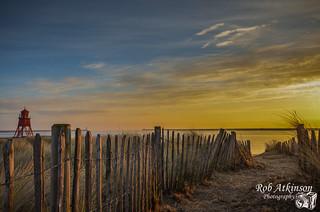 Sunrise at the groyne