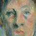 CEZANNE,1890 - Portrait de Madame Cézanne (Orangerie) - Detail h