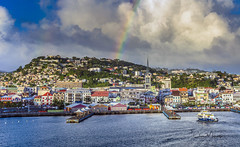 Evening Rain Clouds (clive_metcalfe) Tags: martinique caribbean rainbow westindies