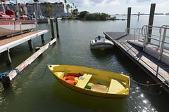 Little Yellow Boat (Eddie C3) Tags: dunedinflorida gulfofmexico clearwaterbeachisland boats rowboat