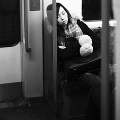 Wednesday (Darryl Scot-Walker) Tags: streetphotography londonunderground woman sleeping travel tube subway london londonstreetphotography candid street