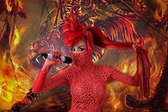 Ivy Queen La diva (Tonyzp) Tags: ivyqueen ivy queen ladiva retrto portrait cnon 5d canon miami beaach joeyrolon