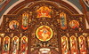 Sts. Cyril and Methodius Altar Screen Detail (Jay Costello) Tags: stscyrilandmethodiusukrainiancatholicchurch stscyrilandmethodius ukrainian catholic church god worship religion stcatharineson stcatharines ontario canada on ca screen icon gold wood brown saints dome