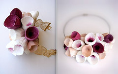 Handmade Paper Jewelry by Alessandra Fabre Repetto (all things paper) Tags: paperjewelry paperbracelet paperflowers papermache papersculpture greenweddings ecofriendly earthfriendly ecoweddingdesign