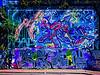 Too Little Time and Too Much Paint (Steve Taylor (Photography)) Tags: skull lips hair skin backscratch 40hz art digital graffiti mural streetart tag blue brick woman lady uk gb england greatbritain unitedkingdom london bush branch sunny sunshine