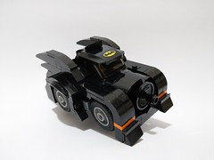 1989 Cute Batmobile  [lego moc] (c_s417) Tags: lego moc batman dc minifigure batmobile bat mobile 1989 cute minifigures