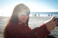 _DSC0220 (KingCamification) Tags: sandiego california 28 missionbay missionbeach beach sand sunlight tania sunglasses selfie iphone