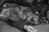 (pacosanchez8) Tags: dog chien animal monochrome hugs hug sleep doglover 50mm canon