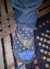 cloven hoof (n.a.) Tags: flip flop sock wedgie jeans style leg foot carpet brad