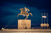 Alexander The Great (Vagelis Pikoulas) Tags: statue blue hour macedonia thessaloniki north greece winter february 2018 canon 6d tamron 70200mm long exposure sky clouds cloudy cloud landscape