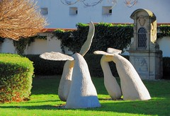 Two Angels (petrk747) Tags: park garden angels monument monuments sculpture modernsculpture image art artwork outdoor nikon