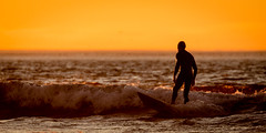 Surfer (GavinZ) Tags: sandiego ca surfing surfer ocean water sports sunset evening