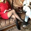MyLeggyLady (MyLeggyLady) Tags: stockings milf hotwife crossed secretary teasing boots stiletto cfm legs heels