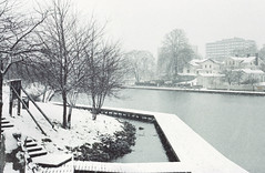 snowing on södertälje (Mister.Marken) Tags: nikonf4 afnikkor50mm114d fotolaboclub digibasec41378℃ expiredfilm södertälje