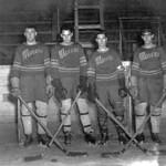 Drumheller Miners hockey team  (John Evans, Johnny Jackson, Howard Palmer, Carlo Cirrela) thumbnail