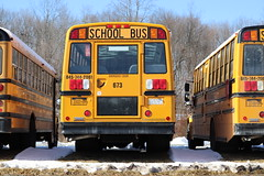 First Student #673 (ThoseGuys119) Tags: firststudentinc schoolbus pinebushny thomasbuilt dslr canon eos77d winter sunlight beautiful snow