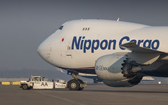 Nippon Cargo Boeing 747-8F leaving the apron (Nicky Boogaard) Tags: 7478 747f boeing7478 cargo nipponcargo nca tokyo japan boeing aviation avporn schiphol amsterdam airport winterlight dmaviation