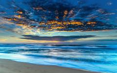 Sunrise Seascape (Merrillie) Tags: daybreak wamberalbeach landscape nature dawn surf waves wamberal waterscape newsouthwales clouds earlymorning nsw water beach ocean sunrise sky morning coastal sea outdoors seascape coast centralcoast cloudy australia