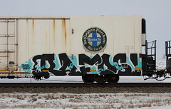 Rafos (quiet-silence) Tags: graffiti graff freight fr8 train railroad railcar art rafos h2o bnsf icicle reefer