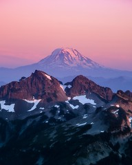 Master of None (justin_crny24) Tags: landscape pink colors mountrainier seattle washington sunset mountains photos photography mountadams