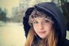 Blue eyes.. (jonbawden50) Tags: portrait girl lady winter snow fuji 7artisans 25mm f18 dof vintage processing photoshop cold