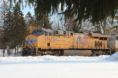 In Season? (view2share) Tags: up7361 c45accte generalelectric ge locomotive engine unionpacific up 517 l517 cn517 cnl517 westbound westernwisconsin stcroixcounty minneapolissub newrichmond wisconsin wi deansauvola winter morning snow snowfall freight freighttrain fr cn canadiannational cold railway railroading rr railroads rail railroad rails rring trains track transportation train tracks transport trackage trees march32018 march2018 march 2018 spring springtime